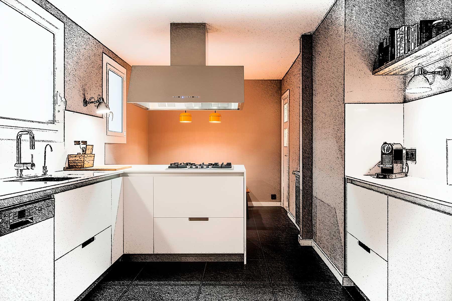 Proyecto reforma cocina Floc Interiorismo / Projecte reforma cuina interiorisme